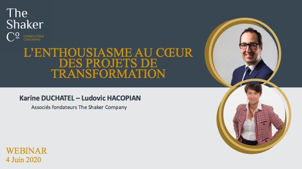 Webinar L'enthousiasme au cœur des projets de transformation